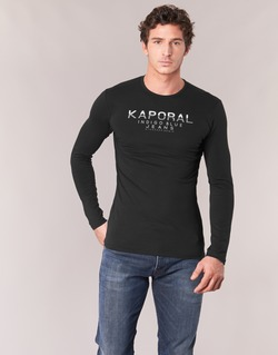 vaatteet Miehet T-paidat pitkillä hihoilla Kaporal PONIO Black