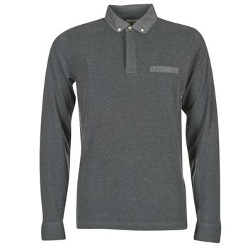 vaatteet Miehet Pitkähihainen poolopaita Serge Blanco POCHA Black / Grey