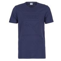vaatteet Miehet Lyhythihainen t-paita Puma ARCHIVE EMBOSSED LOGO TEE Laivastonsininen