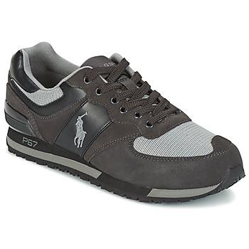 kengät Miehet Matalavartiset tennarit Ralph Lauren SLATON PONY Black / Grey