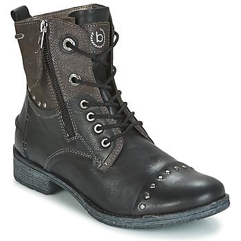 kengät Naiset Bootsit Bugatti PIERA Black / Grey / Fonce