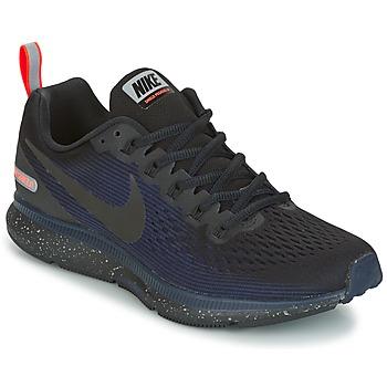 kengät Naiset Juoksukengät / Trail-kengät Nike AIR ZOOM PEGASUS 34 SHIELD Black / Blue