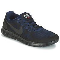 kengät Naiset Juoksukengät / Trail-kengät Nike FREE RUN 2017 SHIELD Black / Blue