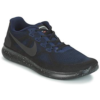 kengät Miehet Juoksukengät / Trail-kengät Nike FREE RUN 2017 SHIELD Black / Blue