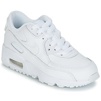 kengät Lapset Matalavartiset tennarit Nike AIR MAX 90 LEATHER PRE-SCHOOL White
