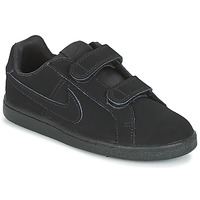 kengät Pojat Matalavartiset tennarit Nike COURT ROYALE PRE-SCHOOL Black