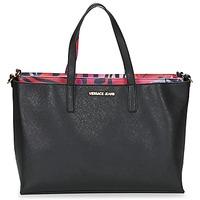 laukut Naiset Ostoslaukut Versace Jeans ANTALOS Black / Red / Monivärinen