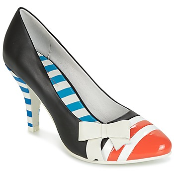 kengät Naiset Korkokengät Lola Ramona STILETTO Black / Orange / White