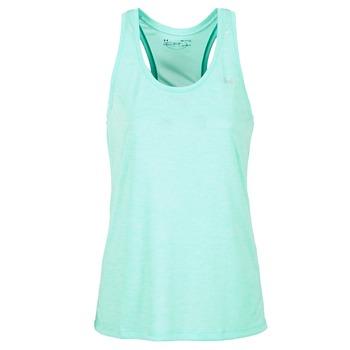 vaatteet Naiset Hihattomat paidat / Hihattomat t-paidat Under Armour TECH TANK - SOLID Green