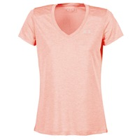 vaatteet Naiset Lyhythihainen t-paita Under Armour TECH SSV - TWIST CORAIL