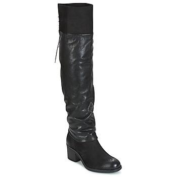 kengät Naiset Ylipolvensaappaat Mjus SHAGGY Black