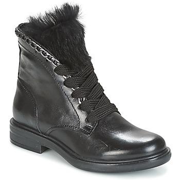 kengät Naiset Bootsit Mjus CAFE LACE Black