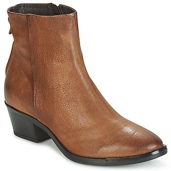 kengät Naiset Bootsit Mjus FRESNO ZIP Brown