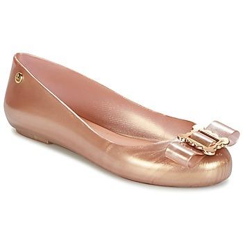 kengät Naiset Balleriinat Melissa VW SPACE LOVE 18 ROSE GOLD BUCKLE Pink / Kulta