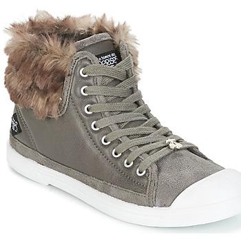 kengät Naiset Korkeavartiset tennarit Le Temps des Cerises BASIC 03 Grey