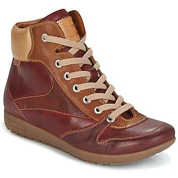 kengät Naiset Korkeavartiset tennarit Pikolinos LISBOA W67 Brown