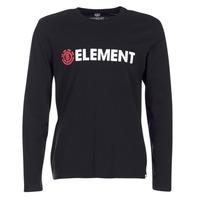 vaatteet Miehet T-paidat pitkillä hihoilla Element BLAZIN LS Black
