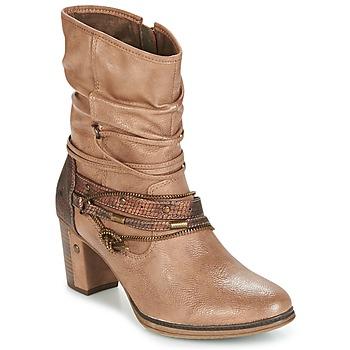 kengät Naiset Nilkkurit Mustang BUNDEN Beige