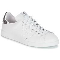 kengät Naiset Matalavartiset tennarit Victoria DEPORTIVO BASKET PIEL White / Grey