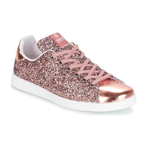 kengät Naiset Matalavartiset tennarit Victoria DEPORTIVO BASKET GLITTER Pink