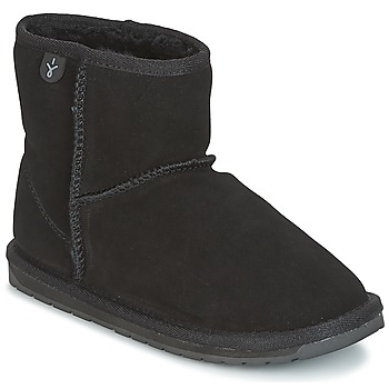 kengät Lapset Bootsit EMU WALLABY MINI Black