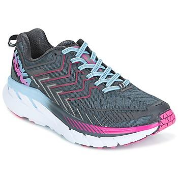 kengät Naiset Juoksukengät / Trail-kengät Hoka one one CLIFTON 4 Grey