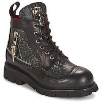 kengät Bootsit New Rock MORTY Black