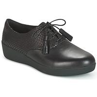 kengät Naiset Derby-kengät FitFlop CLASSIC TASSEL SUPEROXFORD Black