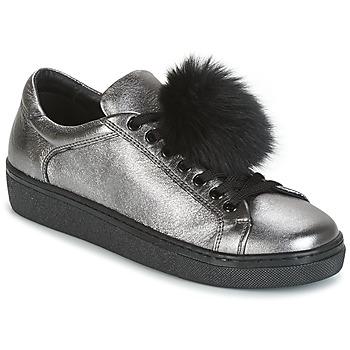 kengät Naiset Matalavartiset tennarit Tosca Blu CERVINIA POM PON Silver