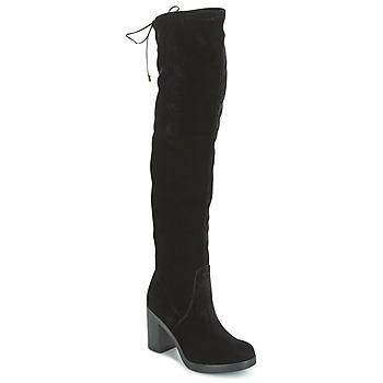 kengät Naiset Ylipolvensaappaat Tosca Blu ST MORITZ Black