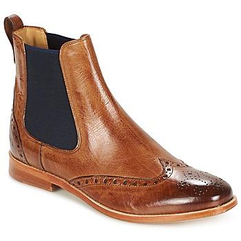kengät Naiset Bootsit Melvin & Hamilton AMELIE 5 Brown / Sininen