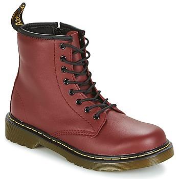 kengät Lapset Bootsit Dr Martens DELANEY Red / Cherry