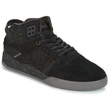 kengät Korkeavartiset tennarit Supra SKYTOP III Black / Grey