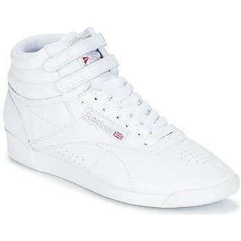 kengät Naiset Korkeavartiset tennarit Reebok Classic F/S HI White / Hopea