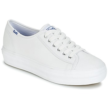 kengät Naiset Matalavartiset tennarit Keds TRIPLE KICK CORE LEATHER White