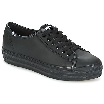 kengät Naiset Matalavartiset tennarit Keds TRIPLE KICK CORE LEATHER Black