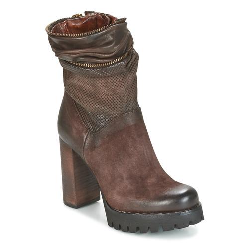kengät Naiset Nilkkurit Airstep / A.S.98 BLOC ZIP Brown