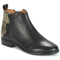 kengät Tytöt Bootsit Adolie ODEON WILD Black / Platinum