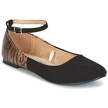 kengät Naiset Balleriinat Moony Mood GLIMY Black