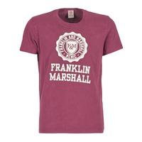 vaatteet Miehet Lyhythihainen t-paita Franklin & Marshall GRAVI Bordeaux