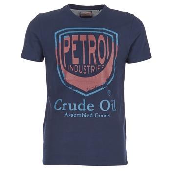 vaatteet Miehet Lyhythihainen t-paita Petrol Industries TIRCO Laivastonsininen