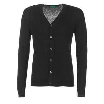 vaatteet Miehet Neuleet / Villatakit Benetton MELODY Black