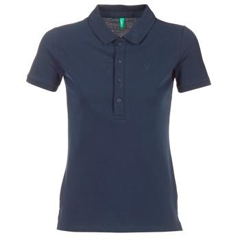 vaatteet Naiset Lyhythihainen poolopaita Benetton MAJOU Laivastonsininen