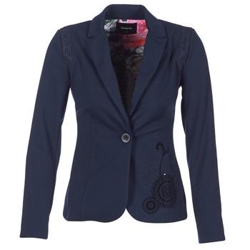 vaatteet Naiset Takit / Bleiserit Desigual GROFA Laivastonsininen