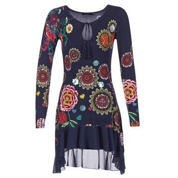 vaatteet Naiset Lyhyt mekko Desigual GRUFI Blue
