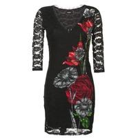 vaatteet Naiset Lyhyt mekko Desigual GRAFE Black
