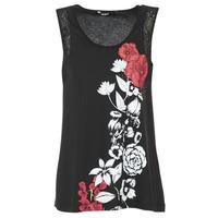 vaatteet Naiset Hihattomat paidat / Hihattomat t-paidat Desigual MAGEIS Black