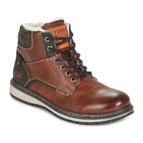 kengät Miehet Bootsit Tom Tailor LORENZA Ruskea