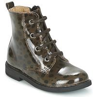 kengät Tytöt Bootsit Citrouille et Compagnie HEMANU Black / Brown