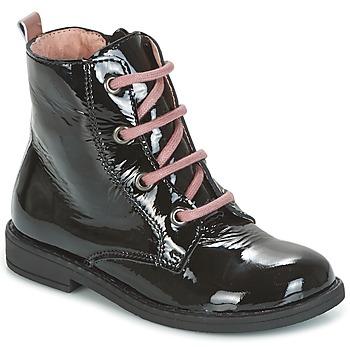 kengät Tytöt Bootsit Citrouille et Compagnie HEMANU Black / Pink